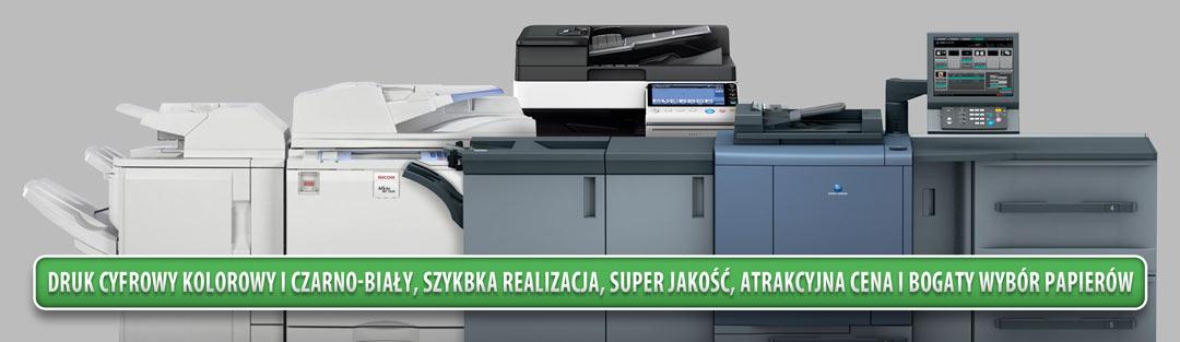 druk cyfrowy kolorowy i czarno biały, szybka realizacja