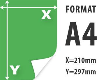 ulotki A4 wymiar 210x297mm