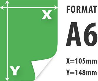 ulotki A6 wymiar 105x148mm